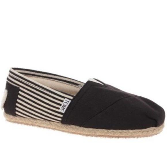 ca3e88c81ac Toms Shoes | Classic Role Sole University Black Womens 11 | Poshmark